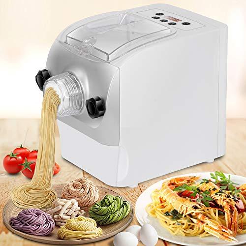 Electric Pasta Maker Automatic Noodle Machine Spaghetti Macaroni Fettuccine Lasagna Bonus Ravioli Sausage Maker with Mixes, Kneads & Extrudes