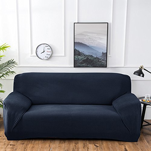 Amyove Stretch Polyester Sofa Slipcover Elastic Pure Color S
