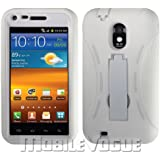 Samsung Galaxy S II Epic 4G Touch White Combo Silicone Case + Hard Cover + Kickstand Hybrid Case For Sprint/U.S. Cellular