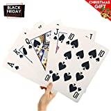EasyGoProducts 8' X 11' Super Big Giant Playing Cards - Novelty Jumbo Cards for Kids, Teens Or Seniors - Large Print - Poker Full Deck of Cards - Lowest Price On Amazon