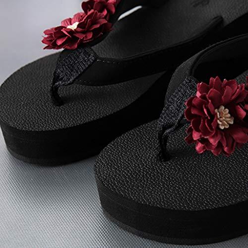 Palabra Moda Señora Playa Aminshap De Grueso Fondo Antideslizantes Zapatos C Zapatillas Con 8wEEIt