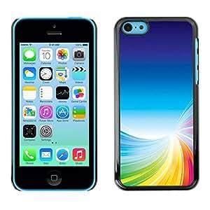LECELL -- Funda protectora / Cubierta / Piel For Apple iPhone 5C -- Colorful Tornado --