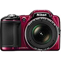 Nikon COOLPIX L830 16 MP CMOS Digital Camera with 34x Zoom NIKKOR Lens and Full 1080p HD Video (Red) (Certified Refurbished)