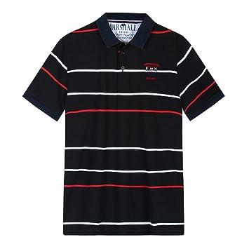 NISHISHOUZI Nuevo Polo Casual katoen Camisas Polo de Rayas ...