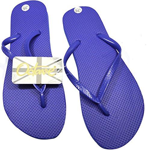 Various Solid OCTAVE Styles Collection Beach Wear Ladies Flip Summer Design Blue Colours Plain amp; Flops 0xwnpPfxBq