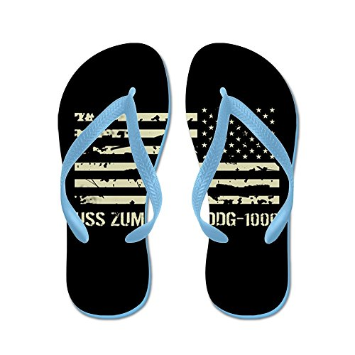 Cafepress Uss Zumwalt - Flip Flops, Roliga Rem Sandaler, Strand Sandaler Caribbean Blue