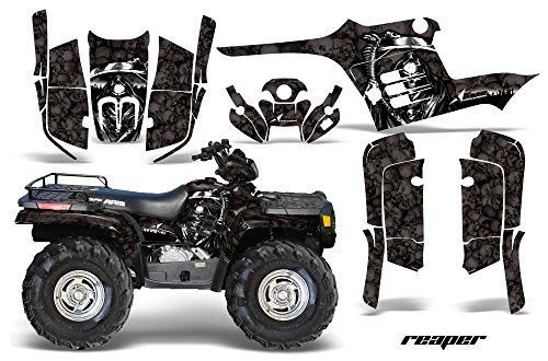 AMR Racing Graphics Kit for ATV Polaris Sportsman 400/500/600/700 1995-2004 REAPER BLACK