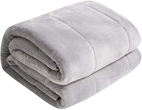 Women 487215lbs Kids U UQUI Weighted Blanket for Adult Men Premium Quality Heavy Blankets for 100/% Cotton Material with Glass Beads Twin//Queen//Full Sized Bed Light Grey
