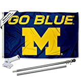 Best Banner Flags With Pole Kits - Michigan Wolverines Go Blue Flag with Pole Review