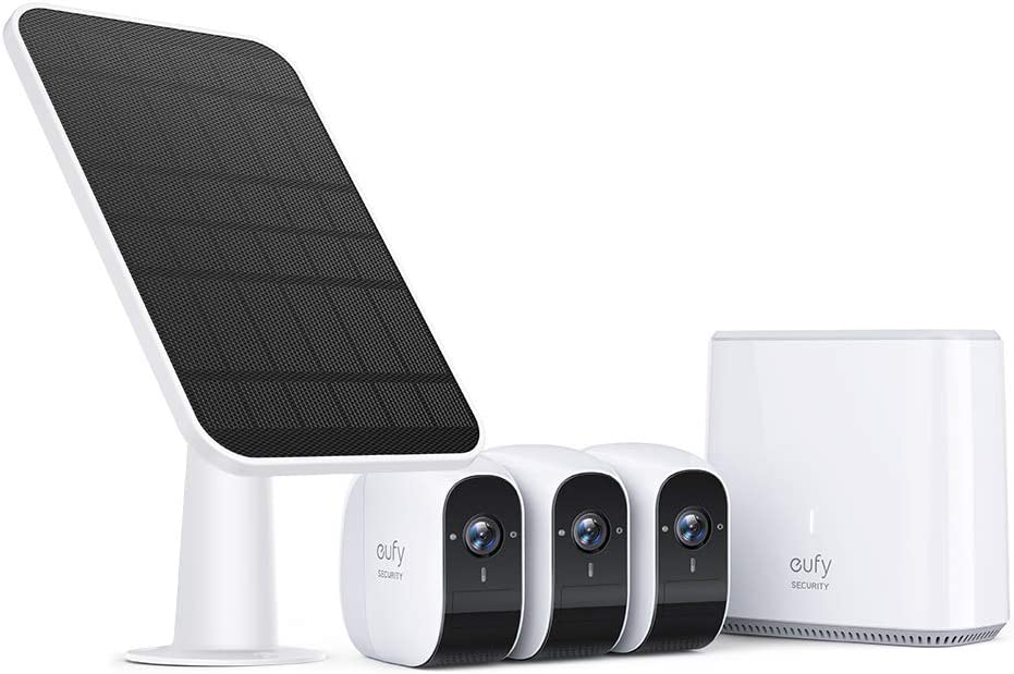 eufy Security Wireless Home Security Camera System & Certified eufyCam Solar Panel Bundle, 1080p HD, No Monthly Fee, Continuous Power Supply, 2.6W Solar Panel