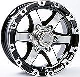 TWO (2) Aluminum Sendel Trailer Rims Wheels 6 Lug 15'' T08 Silver/Black Style