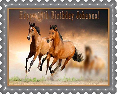 Horses - Edible Cake Topper - 7.5