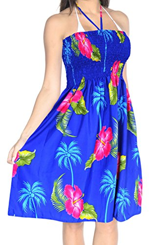 Maillot suprieur Maxi vtements Maillots n306 de Plage Sundress Femmes Couvrir de Licou Bain Bleu Jupe Tube qg8CPqW1w