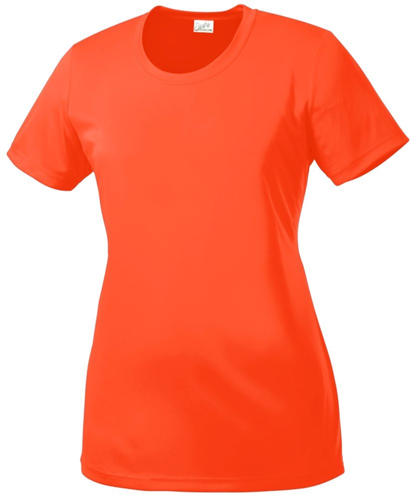 DRI-Equip(tm) Women's All Sport Neon Color High Visibility Athletic T-Shirts-M