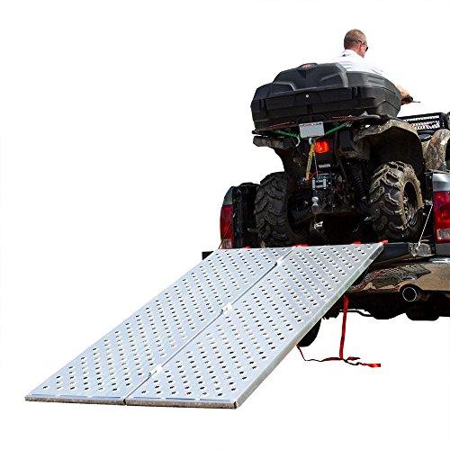 "Black Widow – Bi-Fold ATV Ramp – Punch Plate Surface – BFP-9450 – Measures 7' 10"" Long x 50"" Wide – Folds in Half – 1,500 lb. Weight Capacity (Aluminum Atv Bi Fold Ramp)"