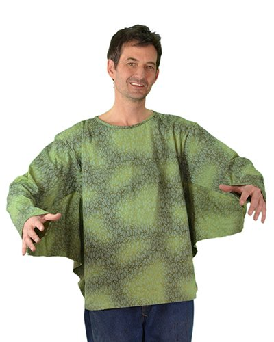 Zagone Sea Creature Shirt, Green Light Weight, Webbed Arms -