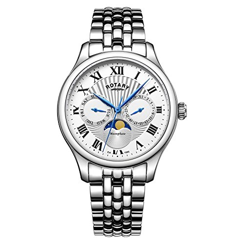 Rotary GB05065-01 Mens Moonphase Silver Chronograph Watch