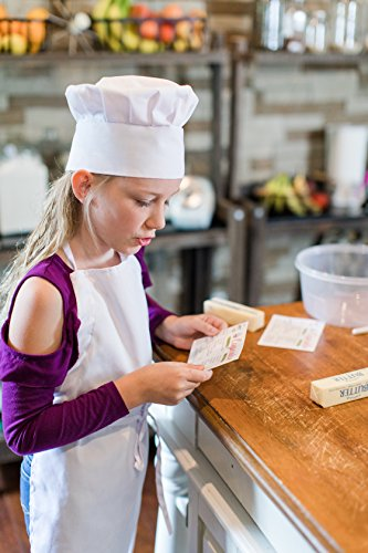 Odelia ObviousChef Kids - Child's Chef Hat Apron Set, Kid's Size, Children's Kitchen Cooking and Baking Wear Kit for Those Chefs in Training, Size (M 6-12 Year, White) by Odelia (Image #2)