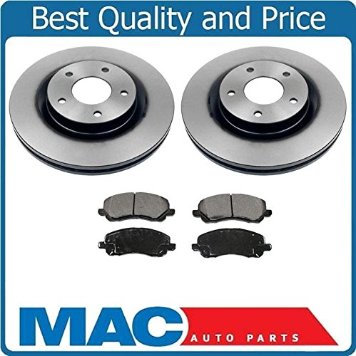 Front Disc Rotors & Ceramic Pads For Dodge Chrysler Jeep Seb