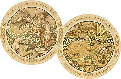 Power Coin Kupe Great Navigator Pulpo Tekau Tara Set 2 Monedas ...