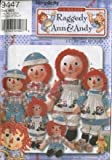 Simplicity 9447 - Classic Raggedy Ann and Andy - 15-Inch, 26-Inch and 36-Inch Doll and Clothing Patterns