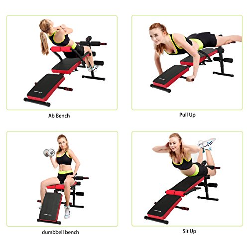 Buy Sit Up Bench Abs Training Ab Rollers Pull Spring: Multi-Purpose Sit Up Bench With Waist Back Support