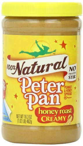 Peter Pan, 100% Natural, Honey Roast Creamy Peanut Butter, 16.3oz Jar (Pack of 3)