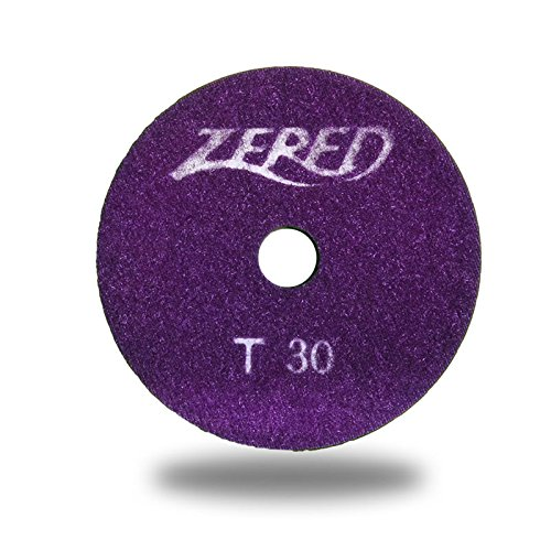 ZERED 4'' PP4-T Diamond Tornado Polishing Pad SET Wet Type Granite Tool (Full Set(8Pcs)) by Zered