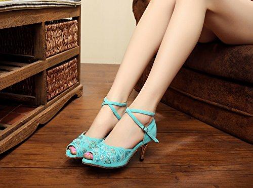 7 Miyoopark Mujer Salón Heel 5cm Turquoise SStg0wq