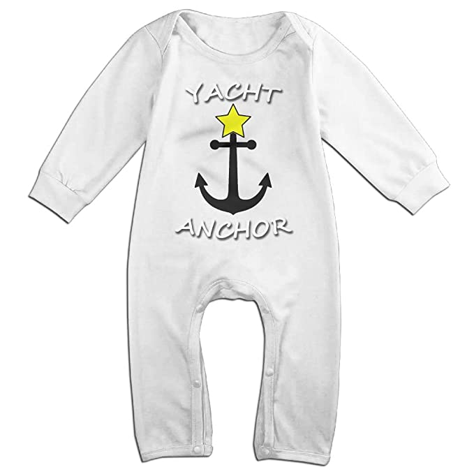 abc2582bc709 Newborn Kid Baby Boy Girl Lovely Yacht Anchor Cotton Onesies Baby Suit  Clothes White 6 M