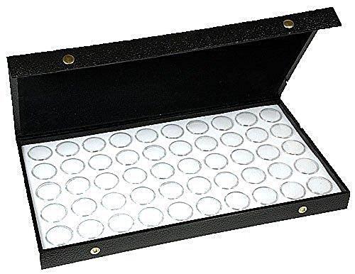 Gem Case - 50 White New Gem Jars Display Case Gemstone Storage Container Organizer Travel By Jbt