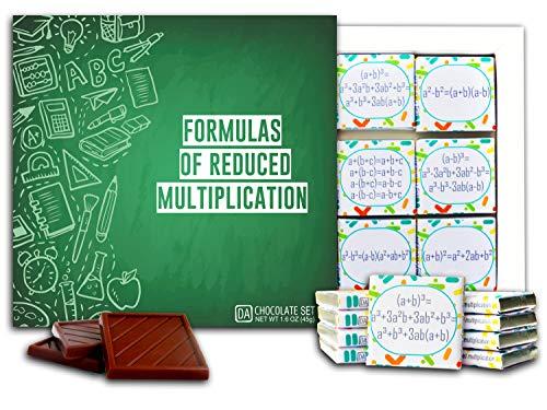 DA CHOCOLATE Candy Souvenir FORMULAS OF REDUCED MULTIPLICATION Chocolate Gift Set 5x5in 1 box (Green)