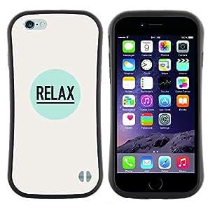 "Hypernova Slim Fit Dual Barniz Protector Caso Case Funda Para Apple (5.5 inches!!!) iPhone 6 Plus / 6S Plus ( 5.5 ) [Relájese cotización positiva lema de la inspiración""]"