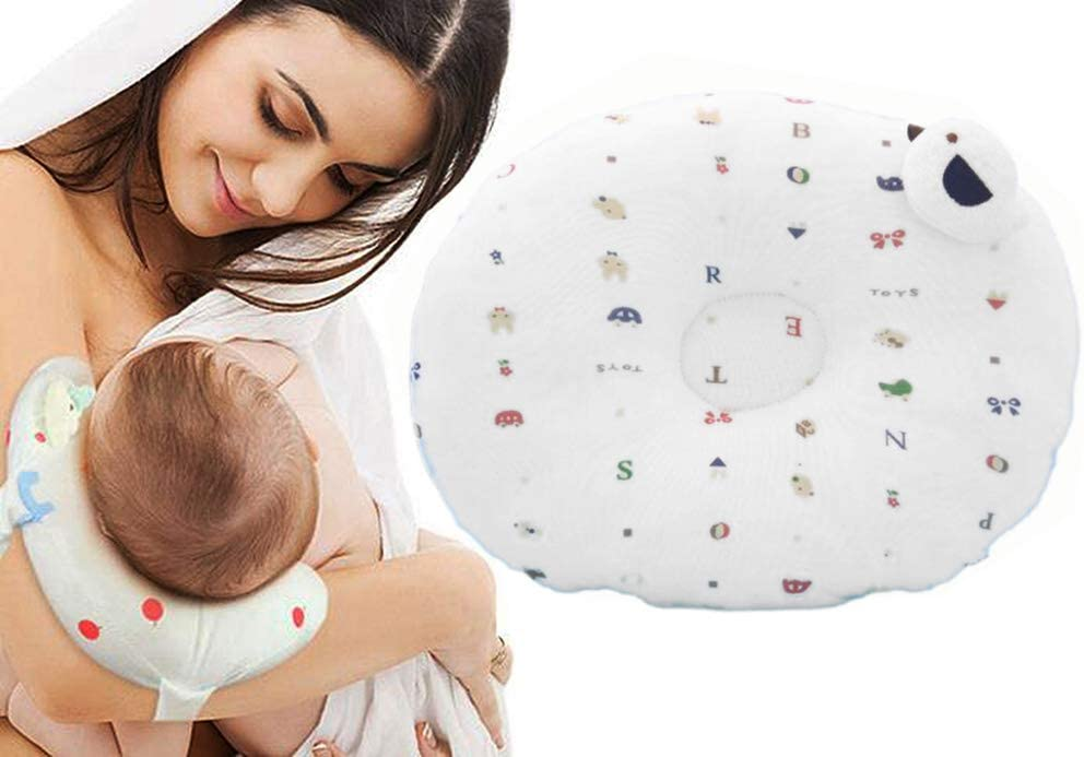 Anti-Spitting Milk Shaped and Washable Nursing Pillow for Toddlers Baby Side Sleep Pillow Anti-Polarity Head Pillow