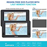 "NAVISKAUTO 10.5"" Dual Screen DVD/CD Player for Car"