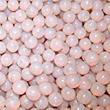 "Unique & Custom {9/16'' Inch} Approx 2 Pound Set of Approx 240 ""Round"" Opaque Marbles Made of Glass for Filling Vases, Games & Decor w/ Pretty Pastel Faux Pearl Elegant Girly Design [Light Pink Color]"