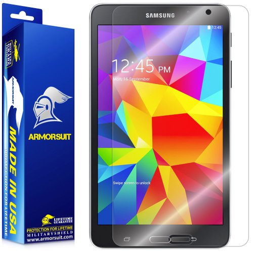 (ArmorSuit Samsung Galaxy Tab 4 8.0 (T330/T337) Screen Protector, MilitaryShield Max Coverage Screen Protector For Galaxy Tab 4 8.0 (T330/T337) - HD Clear Anti-Bubble)