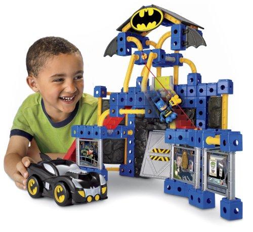 Fisher-Price TRIO DC Super Friends Batcave (Construction Trio Set)