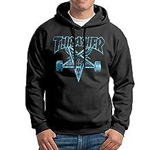 Men's Thrasher Skateboard Cotton Black Pullover Hooded Sweatshirt