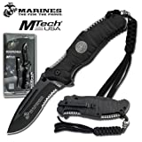 US MARINE CORPS TACTICAL FOLDING KNIFE – HEAVY DUTY BLACK Review