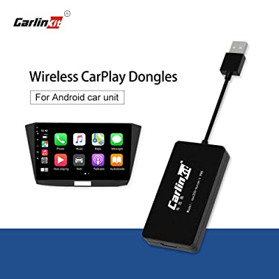 Carlinkit Wireless USB carplay dongle Upgrade for aftermarket Android car Stereo and Android Tablet Support ios13 Split Screen,Google and waze map(Please Download APK): Car Electronics