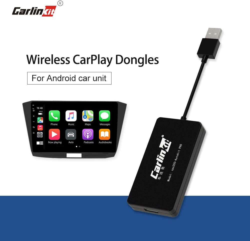Install Autokit app in Android Car Radio System Mirroring SIRI Voice Control//Google Maps//Waze Carlinkit Wireless CarPlay Dongle Wired Android Auto USB Dongle Black Online Upgrade System