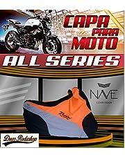 Capa de moto Nave All Séries cor laranja
