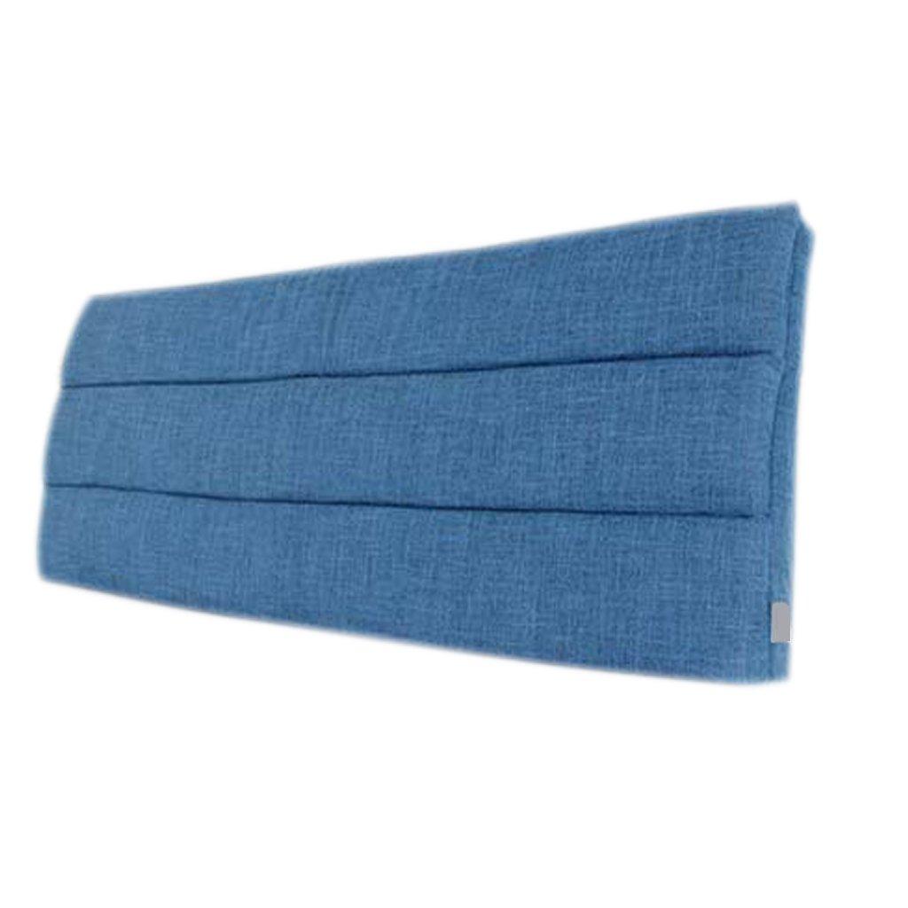 LQQGXL,Cushion, Cloth Bedside Cushion Solid Wood Bedside Cover Sets Bedside Soft Case Sponge Big Cushions Backrest Pad Cover Detachable Washable Back Cushion ( Color : B )