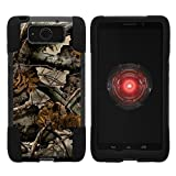 TurtleArmor | Motorola Droid Maxx Case | Droid Ultra Case | XT1080 [Gel Max] Hybrid Dual Layer Hard Shell Kickstand Silicone Case - Tree Leaves Camouflage