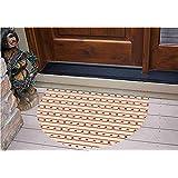 "3D Semicircle Floor Stickers Personalized Floor Wall Sticker Decals,Borders Patriotic Stars Nostalgic USA Pattern,Kitchen Bathroom Tile Sticker Living Room Bedroom Kids Room Decor Art Mural D23.6"""