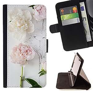 """For Samsung Galaxy S6 Active G890A,S-type Composición del arte del dibujo en blanco"""" - Dibujo PU billetera de cuero Funda Case Caso de la piel de la bolsa protectora"""