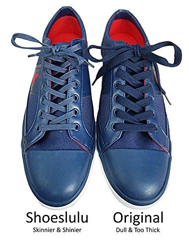 Shoeslulu 20-50 Premium Platta Vaxad Bomull Bootlaces Skosnören Obsidian Svart