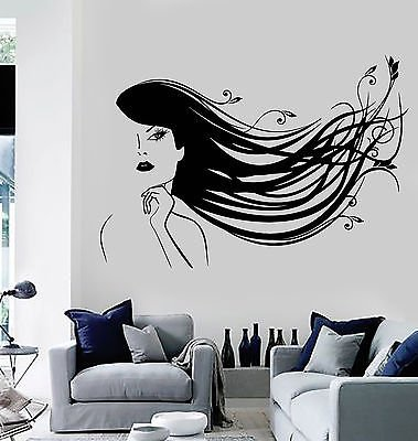 Vinyl Wall Decal Hair Salon Hairstyle Woman Beauty Stylist Stickers (vs4541) (Best Hairstyle For Female)