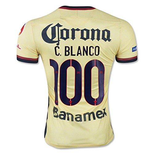 (#100 Cuauhtemoc Blanco 2015/16 Club America Home Adult Soccer)